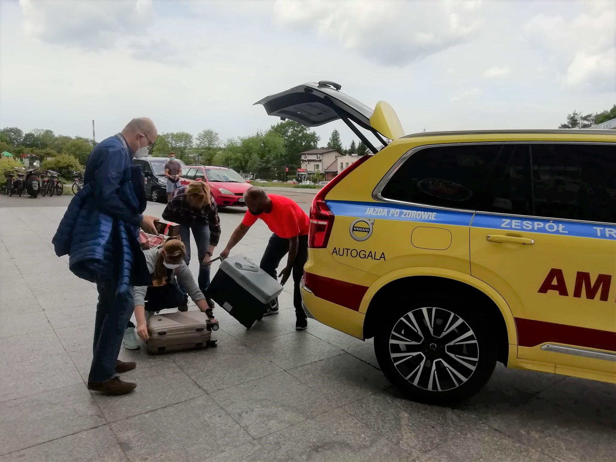 Volvo dla zespołu transplantacyjnego
